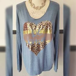 Pull fin coeur Be Kind
