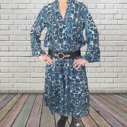 Robe longue motifs croco
